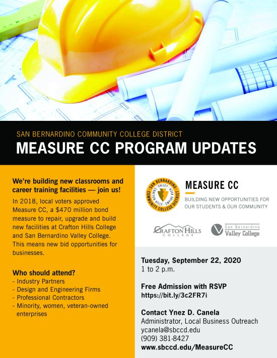 sept 22 measure cc program update flyer
