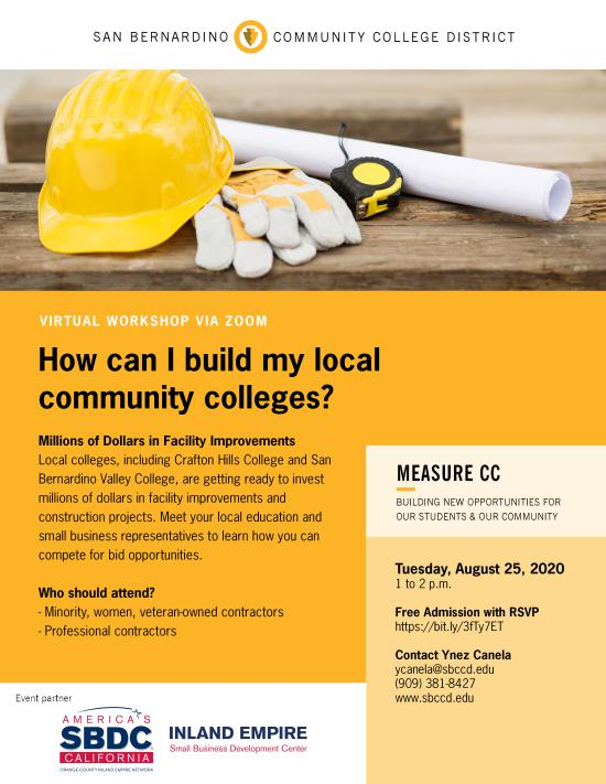contractors 101 and measure cc on august 25 at 1 pm